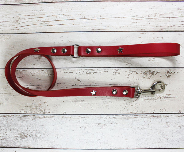Creature Clothes Red Star Dog Lead