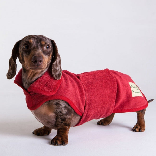 The Ultimate Dog Drying Coat - Brick Red - Doghouse