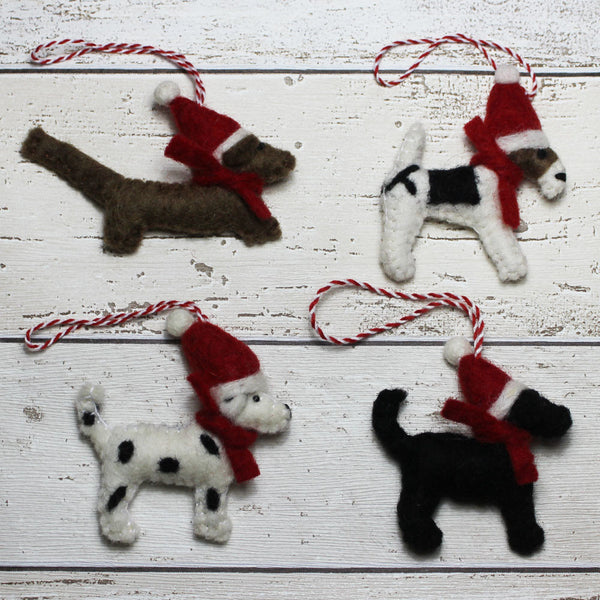 Felt Christmas Decs - Doghouse