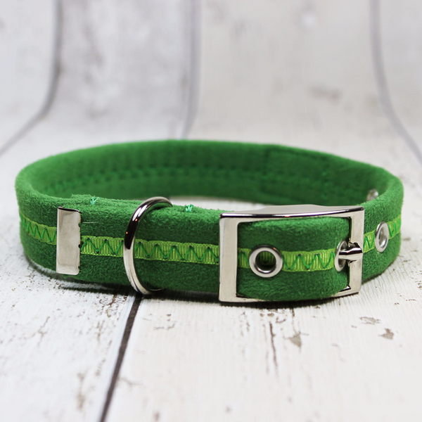 Green Oscar and Hooch Dog Collar - Doghouse