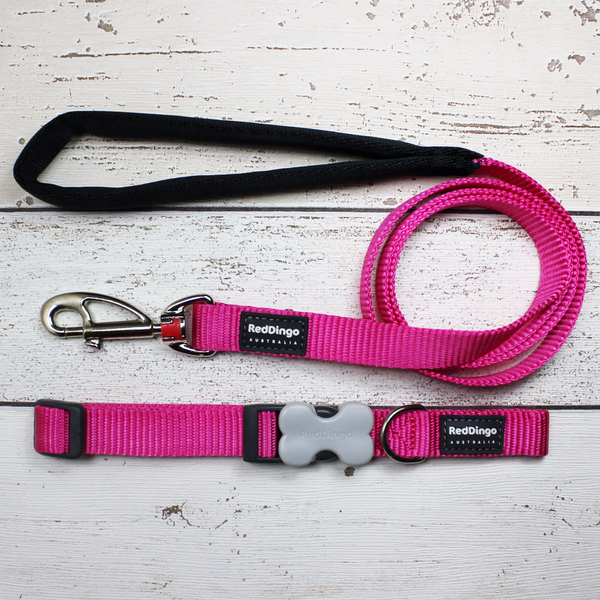 Hot Pink Red Dingo Dog Collar and Lead - Doghouse