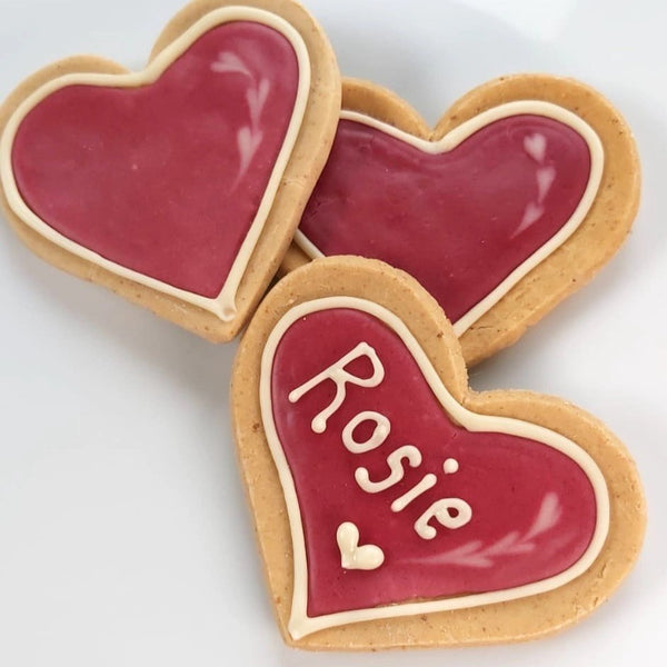 Personalised valentines biscuits for dogs