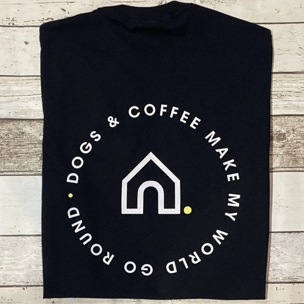 Coffee & Dogs Make My World Go Round T-Shirt - Doghouse