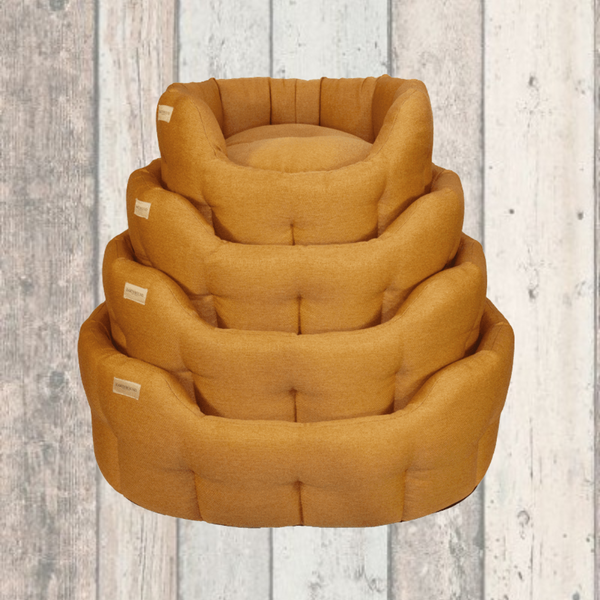 Earthbound Mustard Yellow Dog Bed
