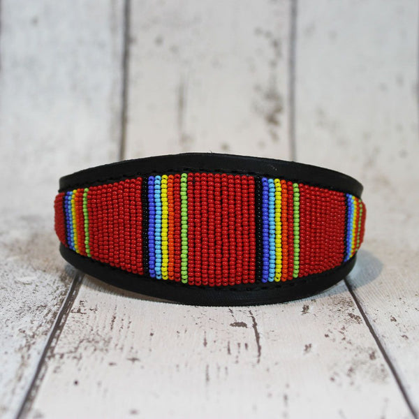 Kenyan Beaded Whippet Collar - Doghouse