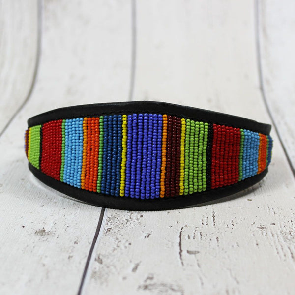 Kenyan Beaded Whippet Collar