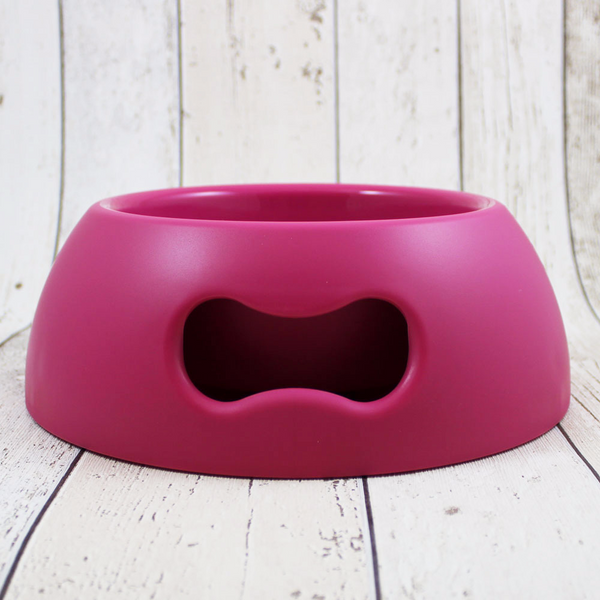 Bone Dog Bowl Magenta - Doghouse