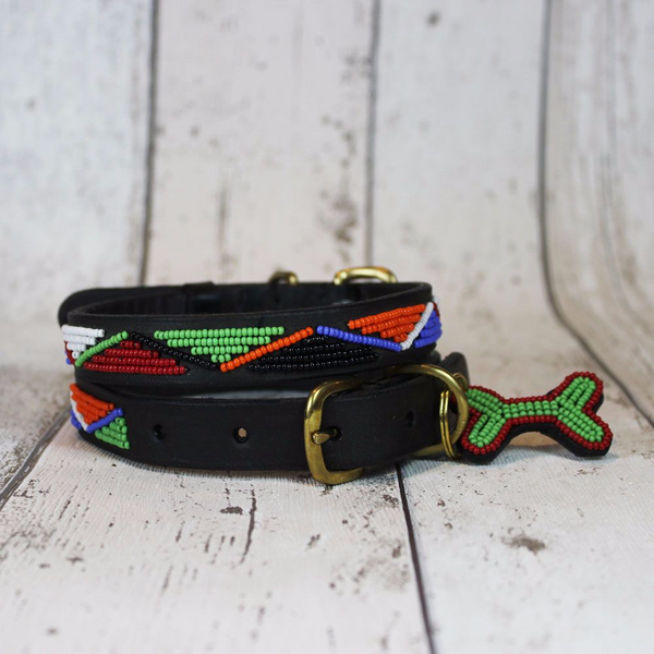 Maasai Kenyan Beaded Dog Collar - Doghouse