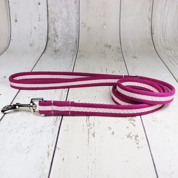 Pink Oscar and Hooch Dog Lead