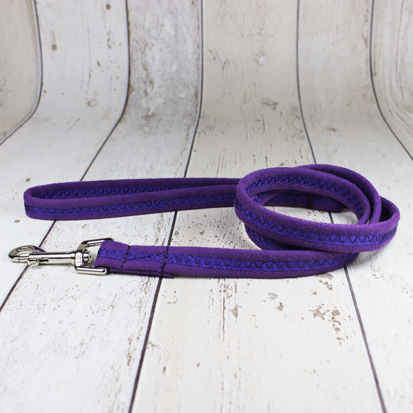 Purple Oscar and Hooch Dog Lead