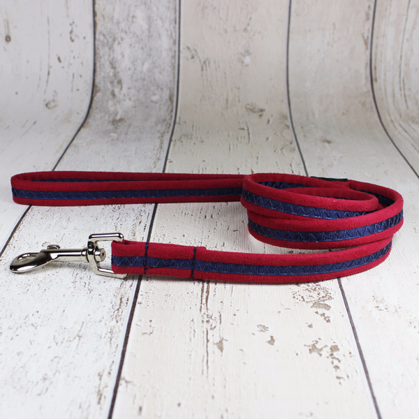Red Oscar and Hooch Dog Lead