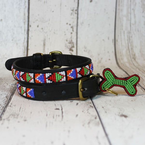 Samburu Kenyan Beaded Dog Collar - Doghouse