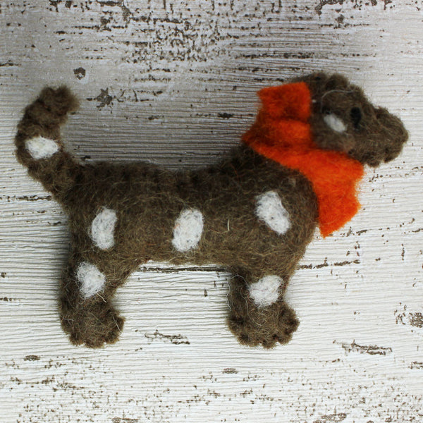 Felt Dog Brooch