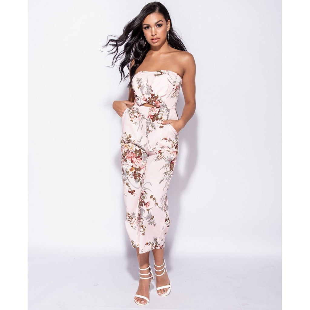 96e7630c6ab Dakota Floral Cut Out Jumpsuit