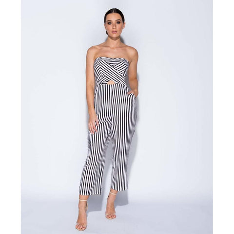3ca46dc87625 Sonia Polka Dot Front Tie Strappy Culotte Jumpsuit