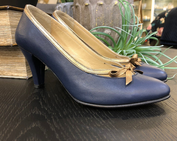 Sophia - Navy/gold