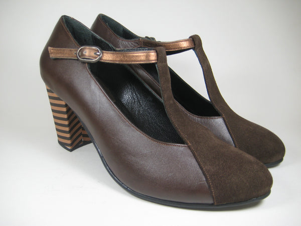 T-strap - Brown