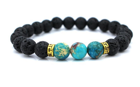 Lava Stone Beads Natural Stone Bracelet - Squarich