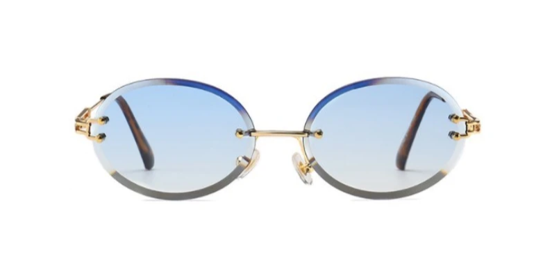 Peek Oval - BLUE - Illustré Eyewear