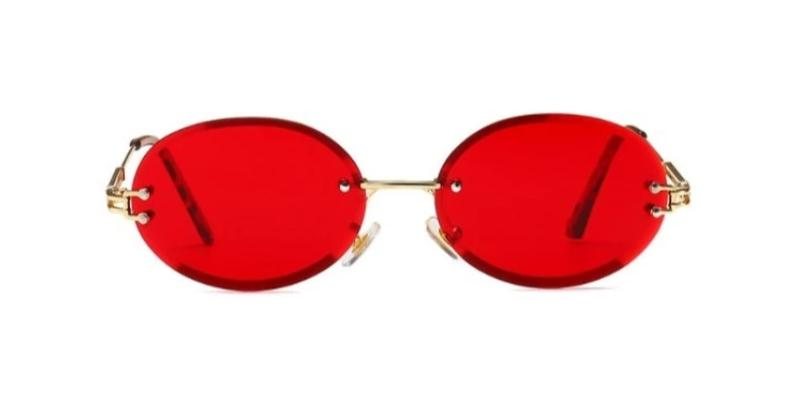 Peek Oval - RED - Illustré Eyewear