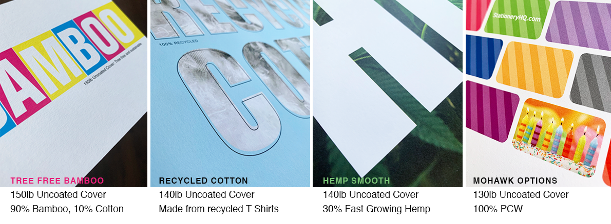 Custom Printing on Sustainable Papers