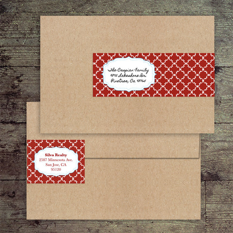 "8"" x 2"" Envelope Wrap Label"