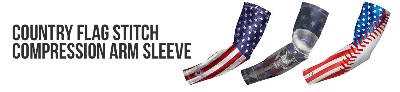 Patriotic Flag Compression Arm Sleeve - USA Canada Puerto Rico Mexico