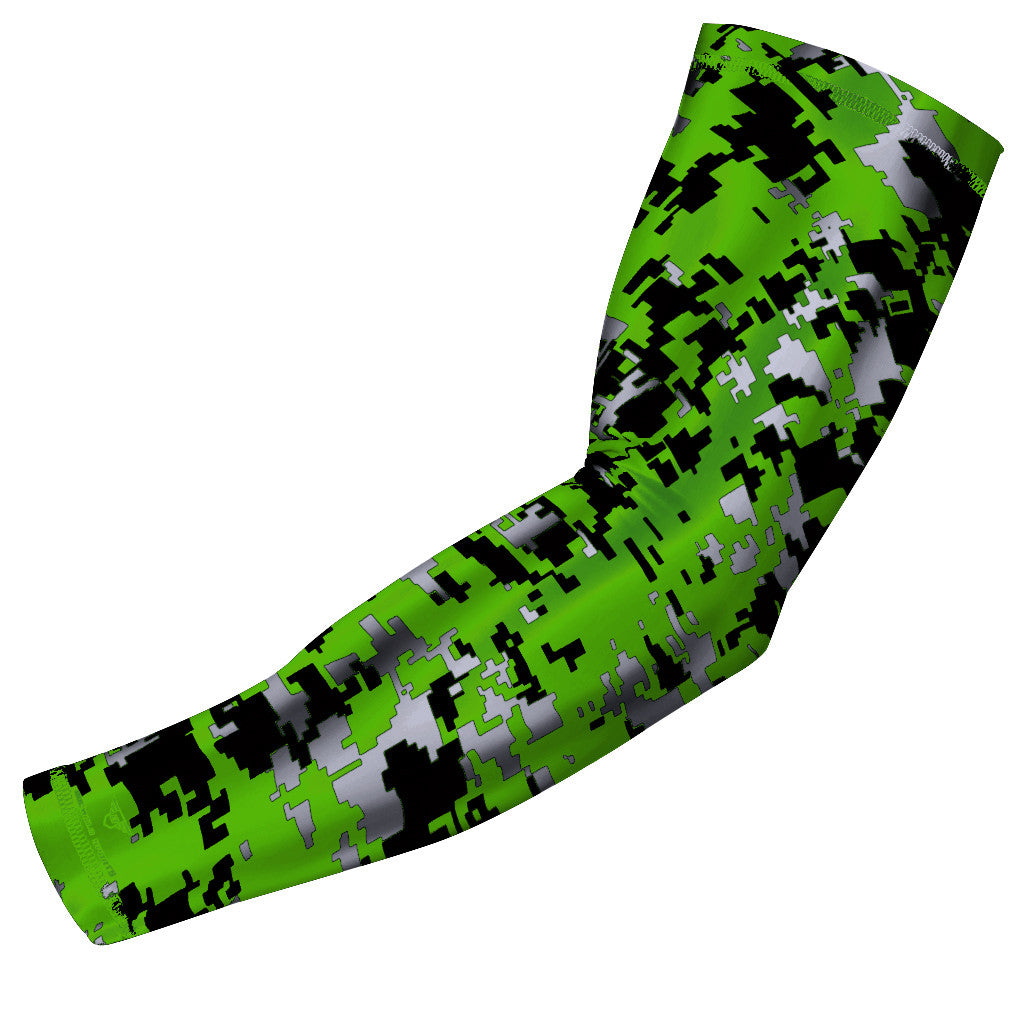 Green Compression baseball arm sleeve