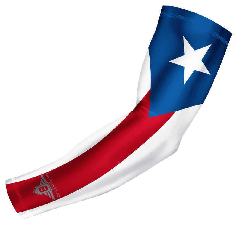 Bucwild Sports Puerto Rico Flag Compression Arm Sleeve