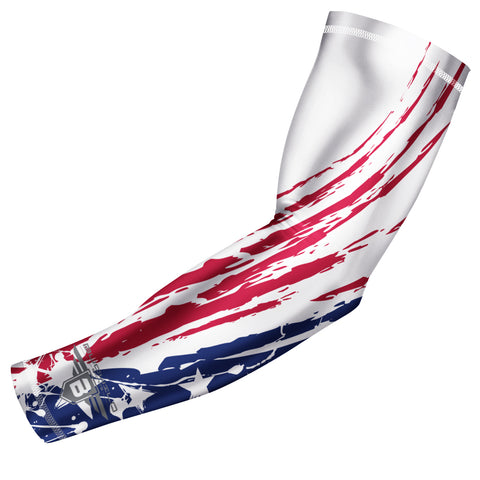 Bucwild Sports USA Flag Compression Arm Sleeve - Tribal