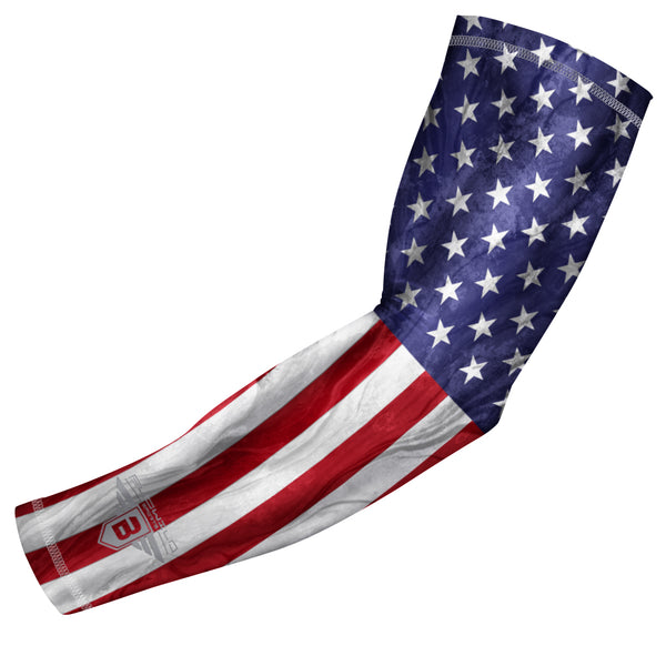 Bucwild Sports USA Flag Compression Arm Sleeve