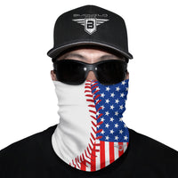 Baseball Thread USA Flag Neck Gaiter Face Mask