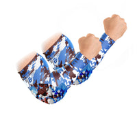 Padded Arm Sleeves - Royal Blue Camo