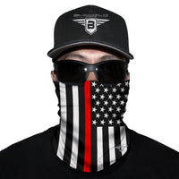 First Responder Red Neck Gaiter Face Mask