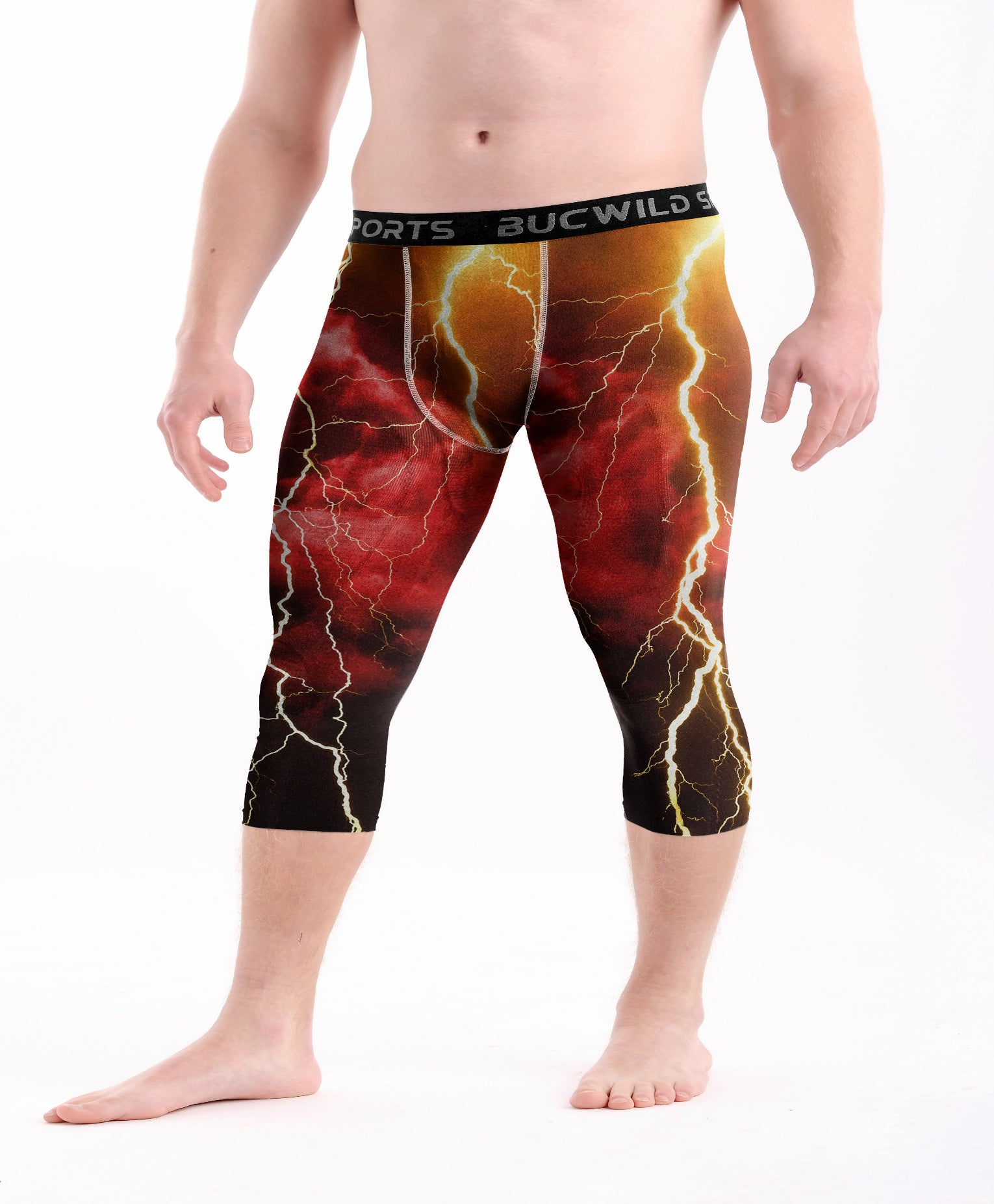 3/4 Compression Pants/Tights - Red Lightning