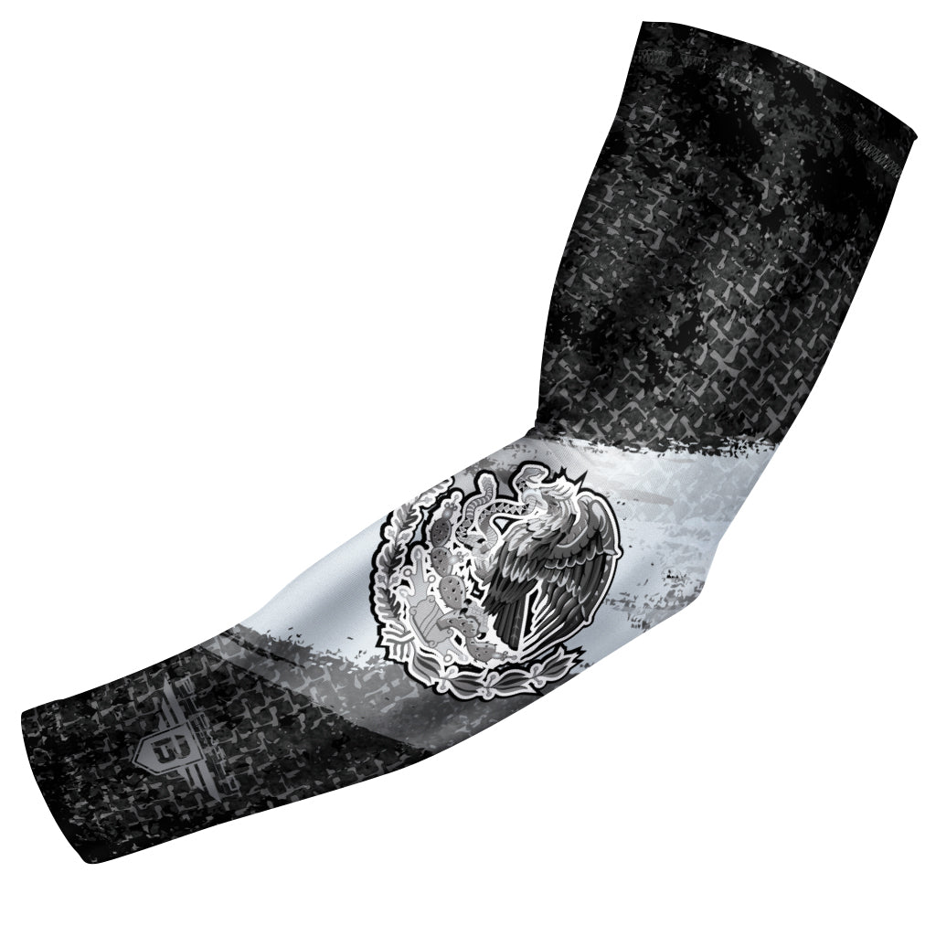 Bucwild Sports Black Mexico Flag Compression Arm Sleeve