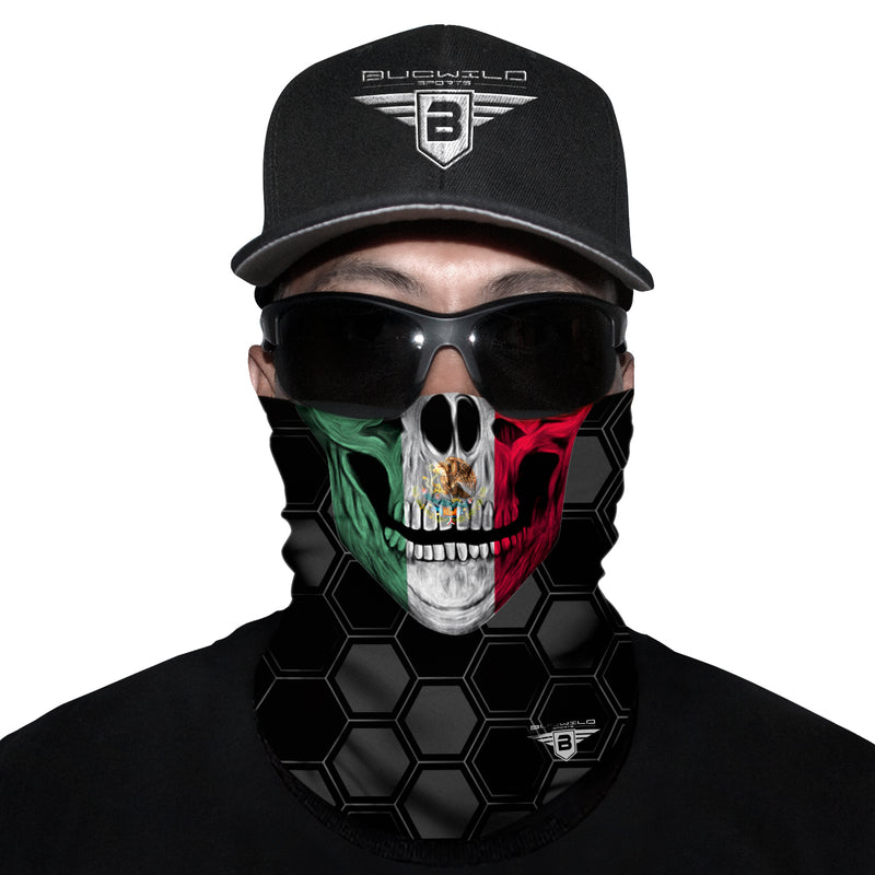 Mexico Skull Neck Gaiter Face Mask