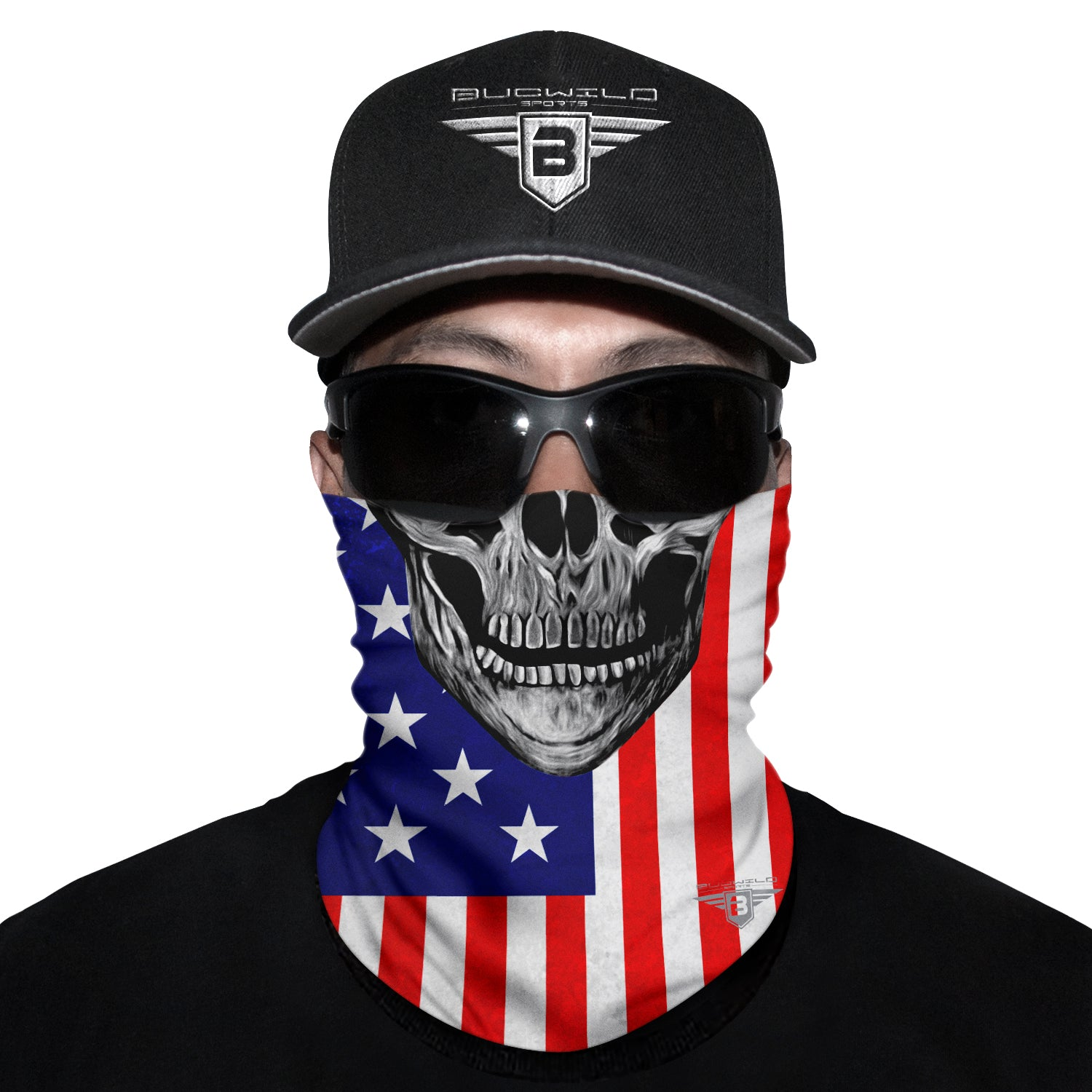 USA Skull Neck Gaiter Face Mask