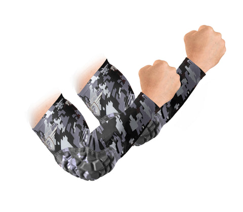 Padded Arm Sleeves - Black Camo