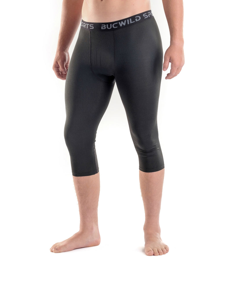Youth Adult Basketball Tights 3 4 Length Upf 50 Sun Protection Bucwild Sports