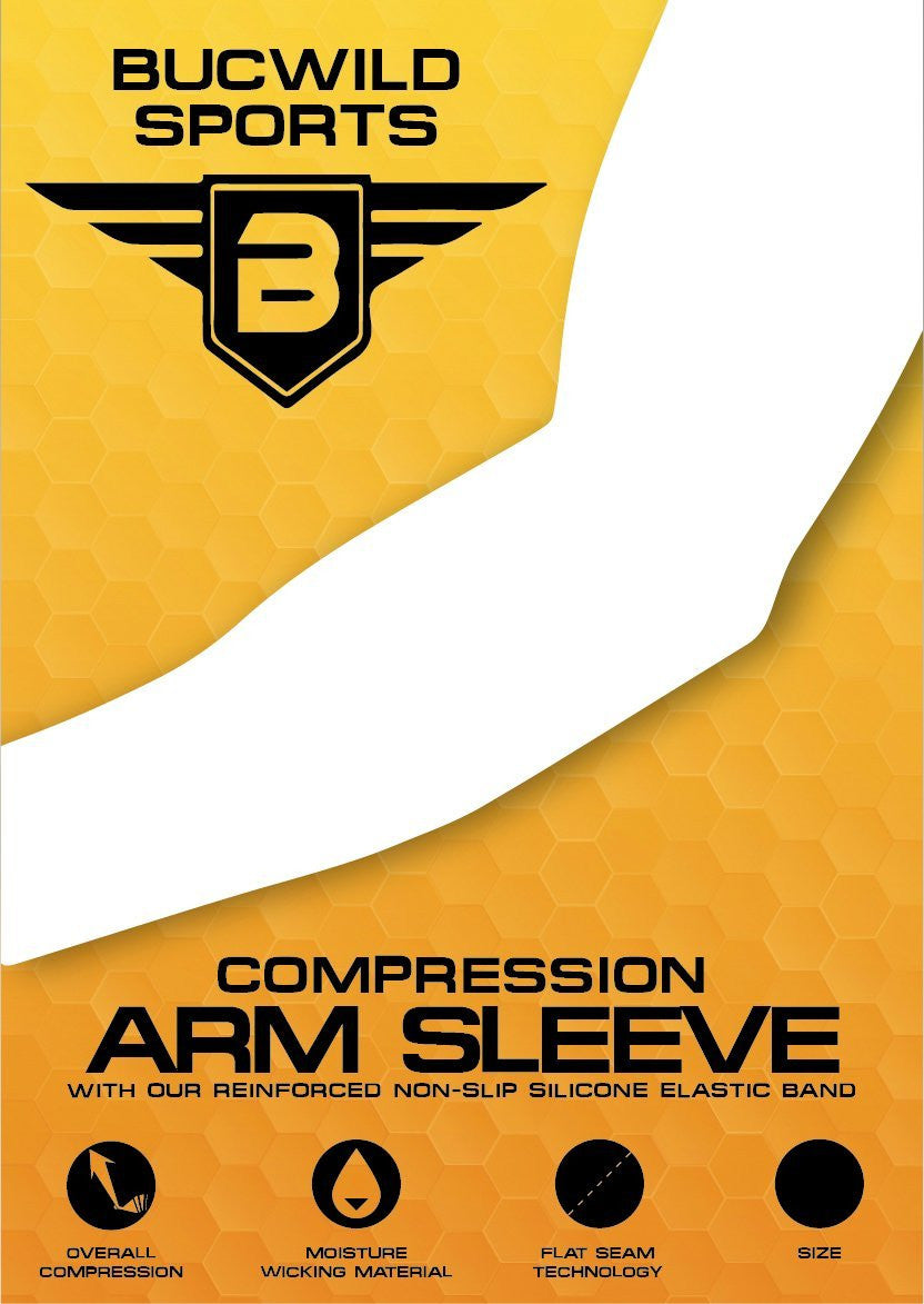 Orange - Gray Digital Camo Compression Arm Sleeve
