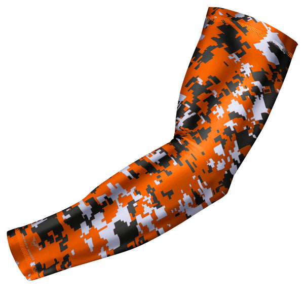 Orange Digital Camo Arm Sleeve