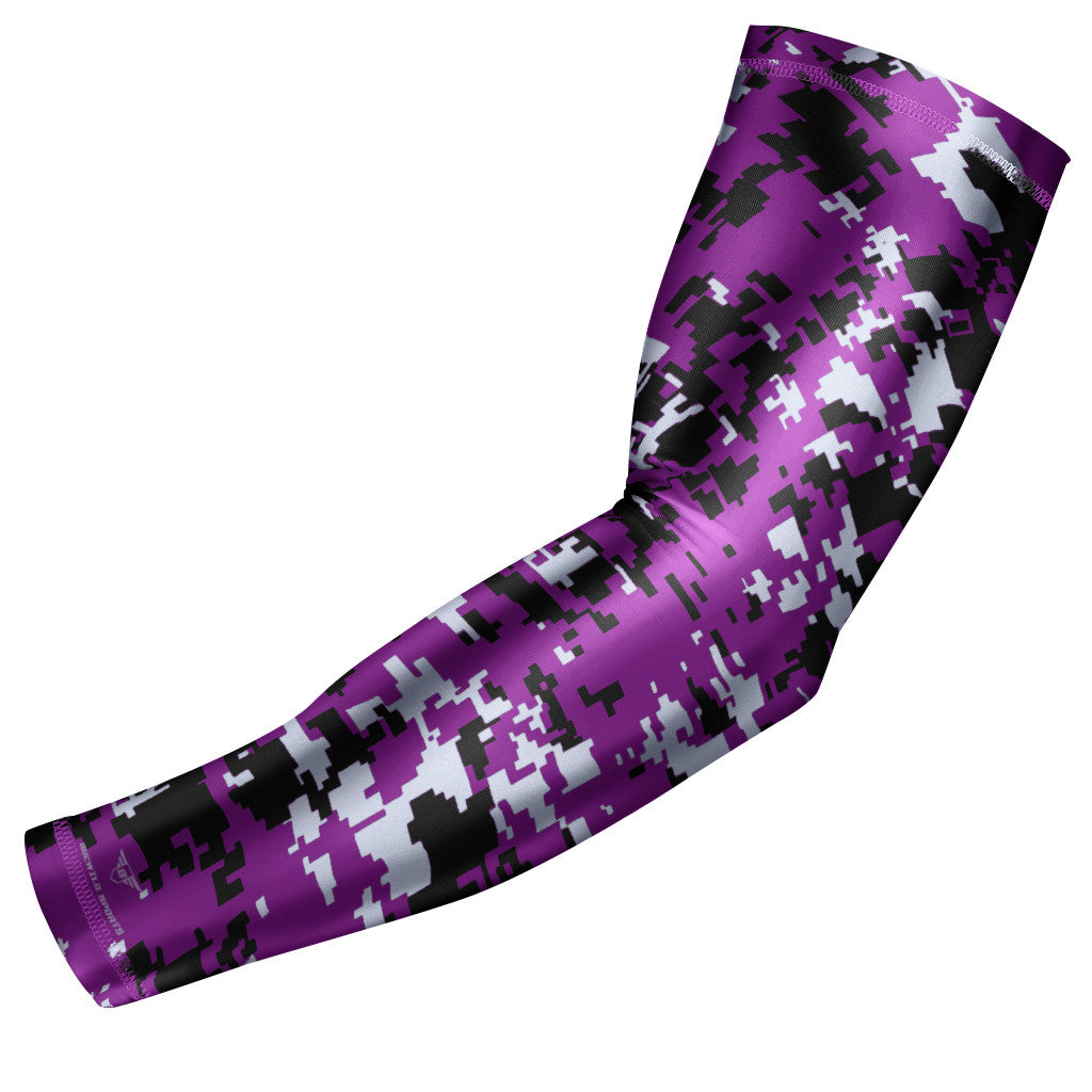 Purple Digital Camo Arm Sleeve