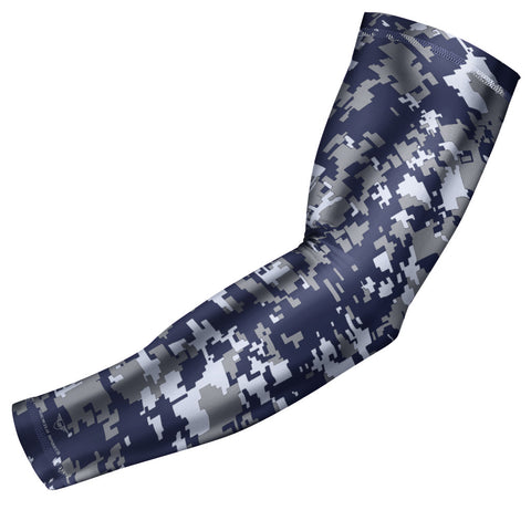 Navy Blue Digital Camo Arm Sleeve