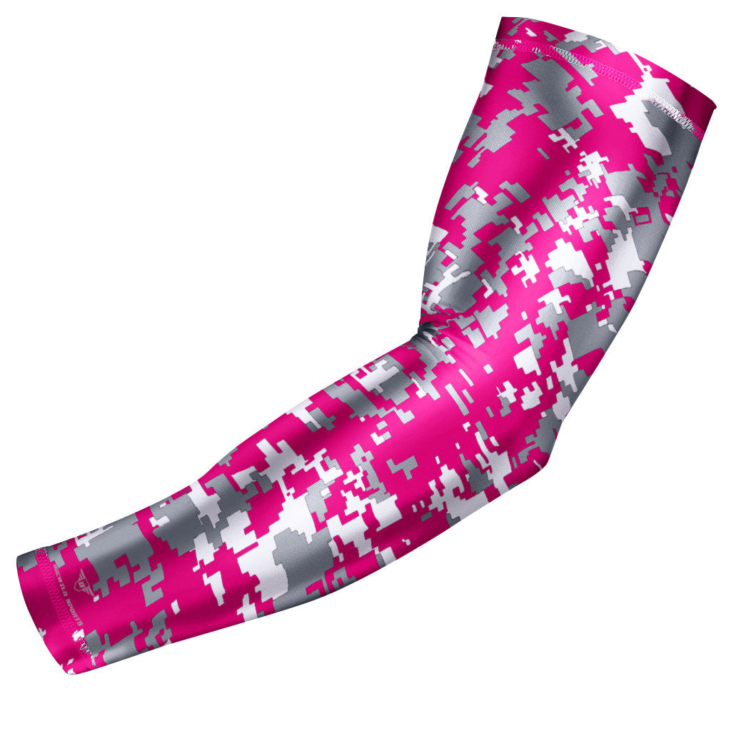 Pink & Gray Digital Camo Arm Sleeve