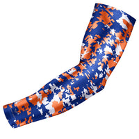 Royal Blue & Orange Digital Camo Arm Sleeve