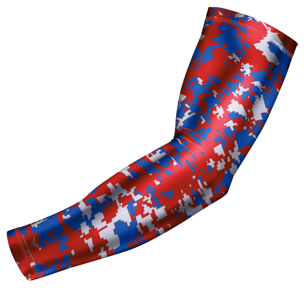 Red & Blue Digital Camo Arm Sleeve