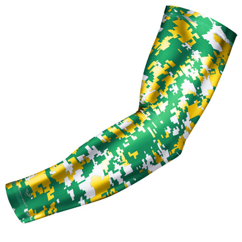 Green & Yellow Digital Camo Arm Sleeve