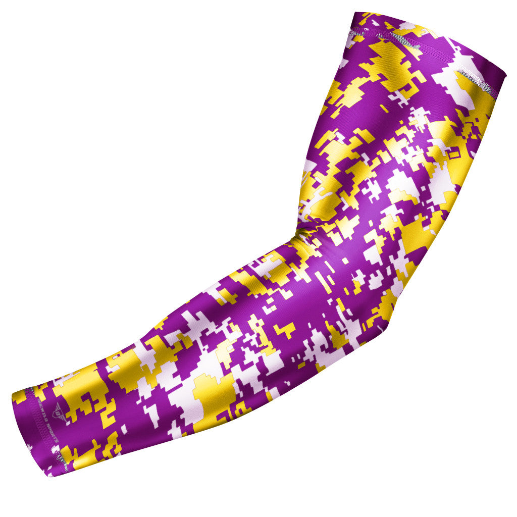 Purple & Yellow Digital Camo Arm Sleeve