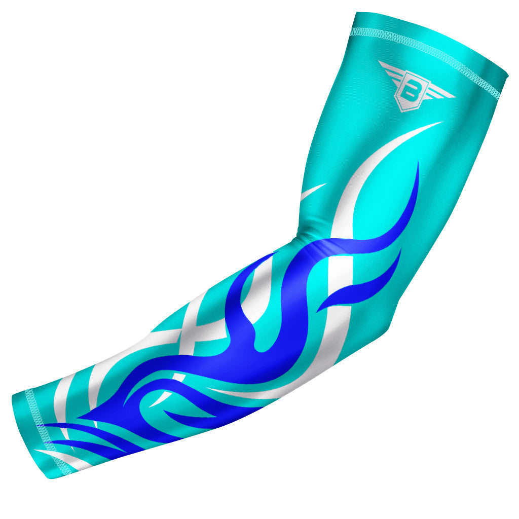 Light Blue Flame Compression Arm Sleeve